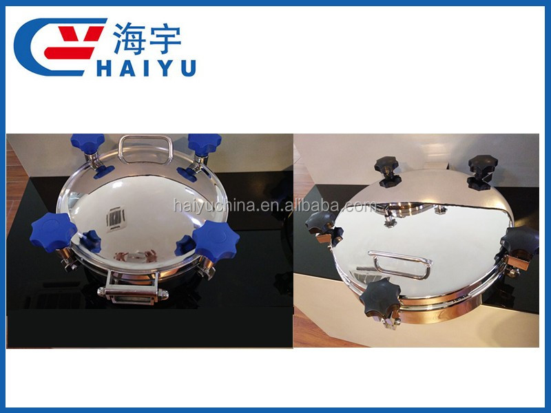 SS304 SS316 Sanitary stainless steel pressure vessel manhole cover