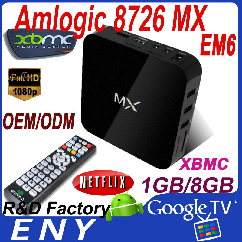 Original 100% MX Amlogic EM6 Cortext A9 Android 4.2 mx6 tv box