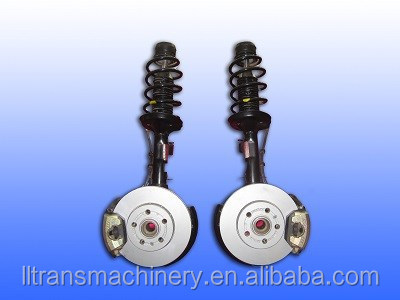 Front shock absorber with wheel assembly
