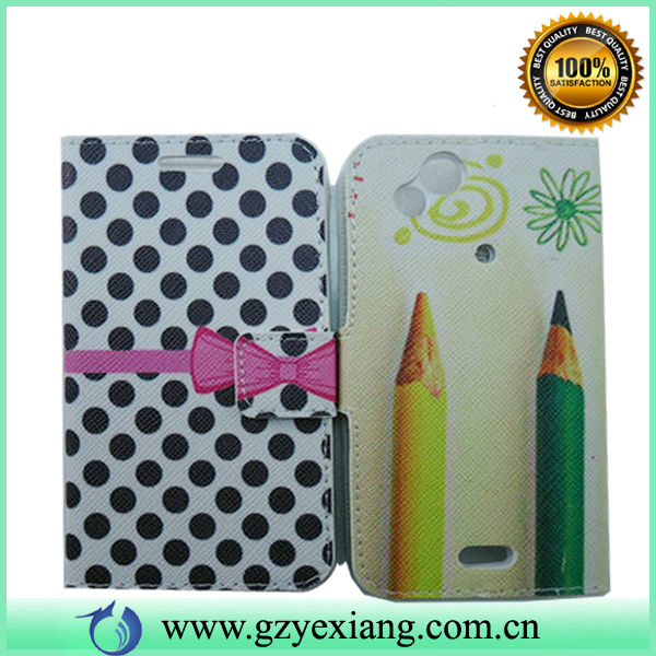 New products 2014 nice pattern design leather flip case for sony ericsson xperia lt18i