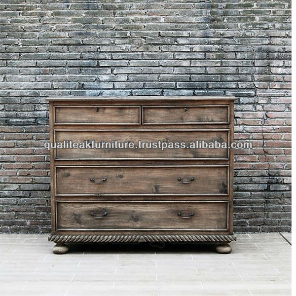 Antique French Country Distress Sideboard Server