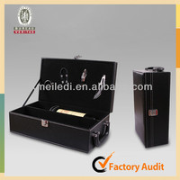 MLDGJ449 Single Lightweight Heavy Duty Pu Leather Tool Case Red Wine Box with ISO9001:2008
