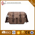 16oz Washed canvas men's messenger canvas leather bags