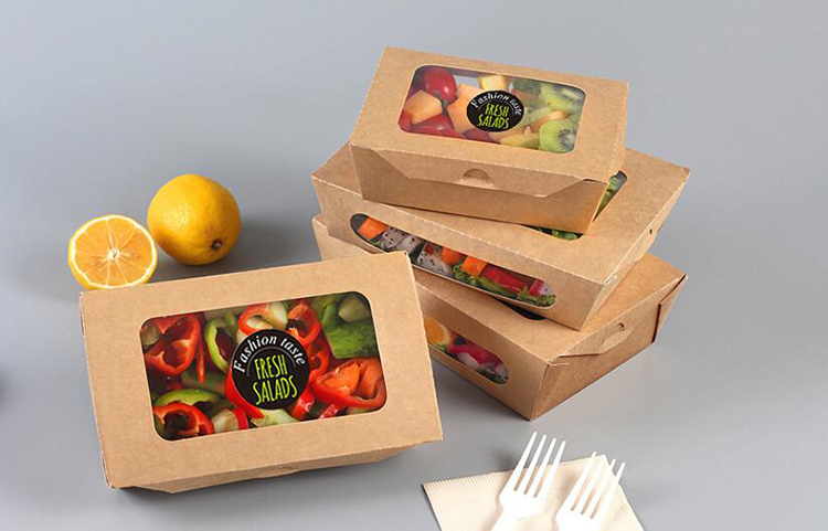 Kraft paper window packaging box for fruit