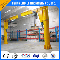 Workshop 1 ton 360 Degree Rotating Column Mounted Jib Cantilever Crane For Sale