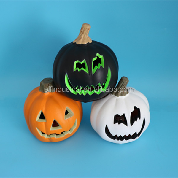 novelty products chinese Lighting platic scary face pumpkin for decoration