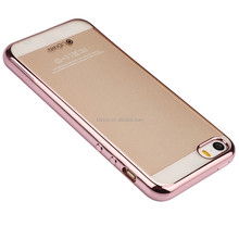 NEW Thin Electroplating Soft Clear TPU Case Gold for iphone5