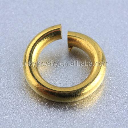 Bulk Wholesale Classical Gold Plated Copper Jump Rings Open Brass Jump Rings