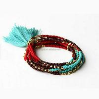 Beaded Tribal Bracelet Tassel Friendship Bracelet