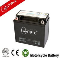Matrix high quality vrla battery 12v 7ah sealed maintenance free motorcycle battery