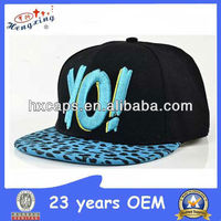 KOREAN BLUE CUSTOM MADE SNAPBACK HAT ACRYLIC LETTERS