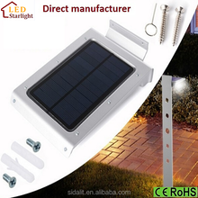 Promotional High Efficiency Sensitive Sensor Portable Solar Garden Lights Wall Packs
