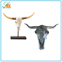 New style hotsell different resin bull head animal head home wall decor
