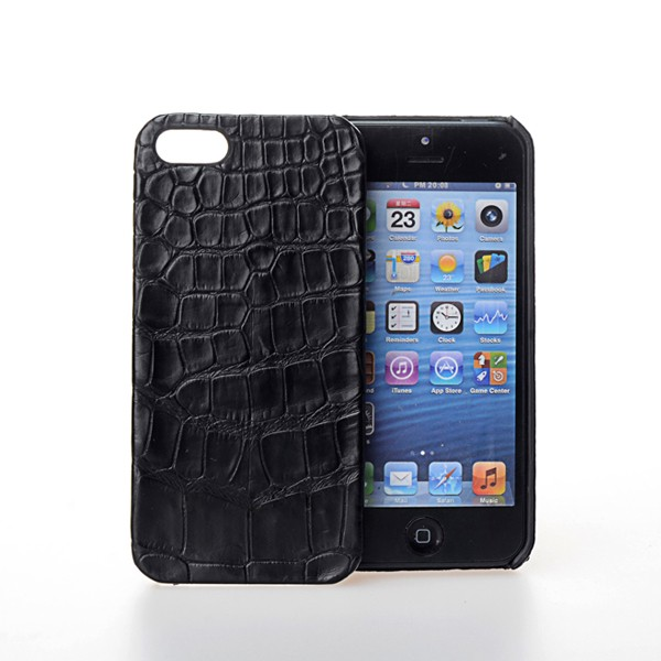 China Leather Mobile Phone Case Supplier, Crocodile Leather Phone Accessories Mobile Case Cover