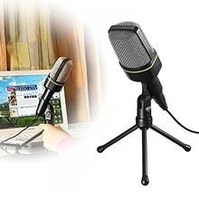Multimedia Studio Wired Handsfree Condenser Microphone with tripod