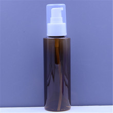 Empty Wholesale 120ml Amber Clear Blue Green plastic PET travel bottle cosmetic with lotion pump