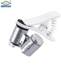 60X led and uv mini iphone pocket microscope use by Mobile Phone