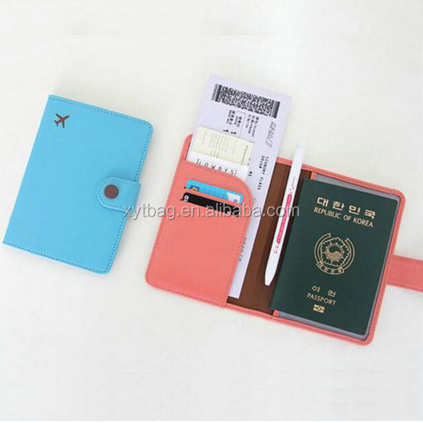 Custom Promotional Travel PU Leather Passport Holder