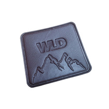 Custom debossed leather patch ,brand leather label tag for jeans clothing