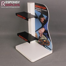 Metal And PVC Counter Shoe Display Rack For Retail Store