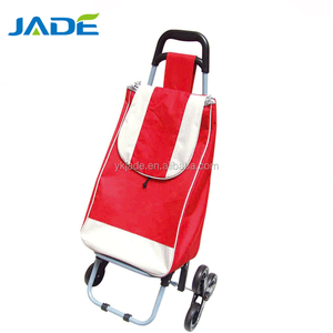 wholesale alibaba hand trolley cart 3 wheels metal grocery shopping carts American style hand trolley for climbing stairs