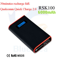 good price dual usb quick charge 2.0 aluminium portable power bank for samsung