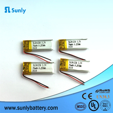 Small lithium polymer ion battery rechargeable sunrise battery 030832 3.7v 55mah