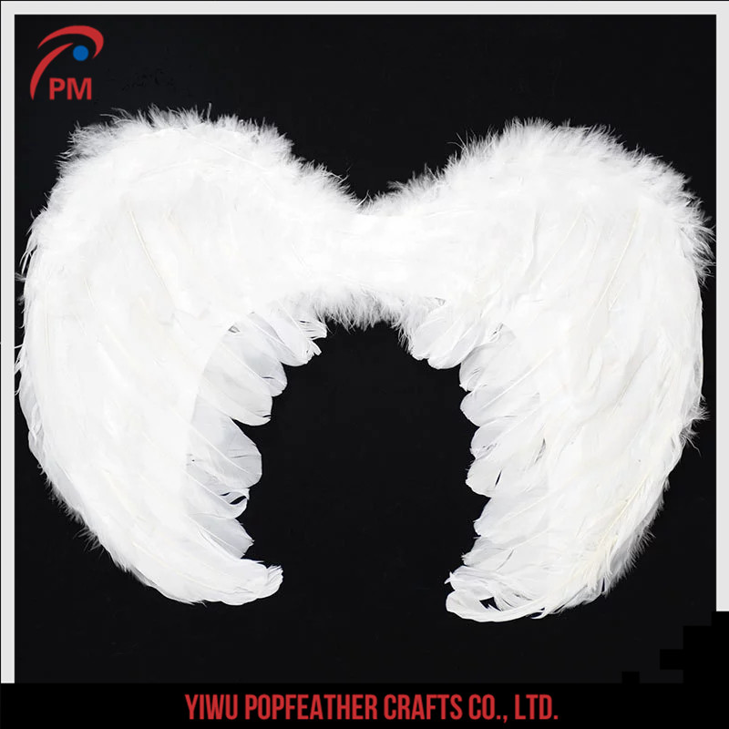 PM-001 Factory sale performance props mini angel feather wings 40*35cm