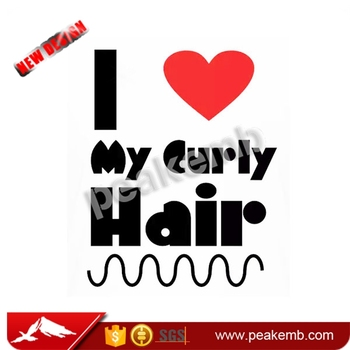 I love my curly Hair Heat Printing Transfer Vinyl Iron On