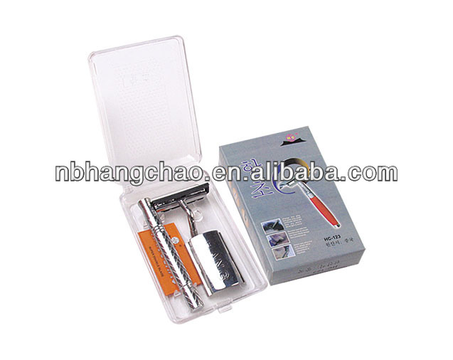 South KOREA Shaving Safety Straight Double Sided Blade Razor