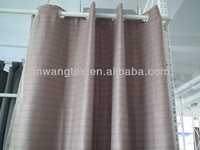 cross stripe bright silk blackout curtain fabric