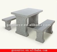 garden stone tables and benches