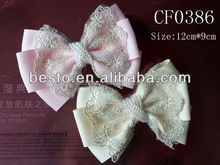 2015 Factory wholesale Fancy chic fabric flower hair bow for girls