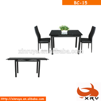 Cheap extendable glass dinning room furniture dining table