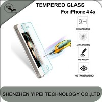 Premium Explosion Proof LCD Clear Front Premium Tempered Glass Screen Protector For Apple For iPhone 4 4s Protective Film