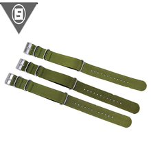 New design high quality 1.2mm-1.5mm thickness brown nylon watch band strap for people