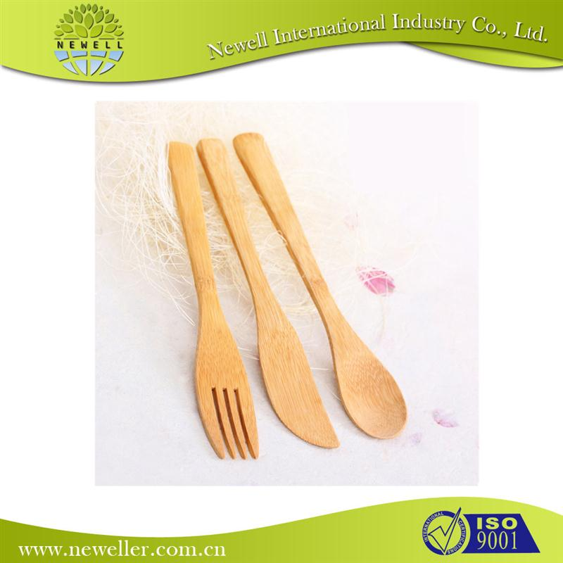 Wholesale bamboo knife fork and spoon with handle