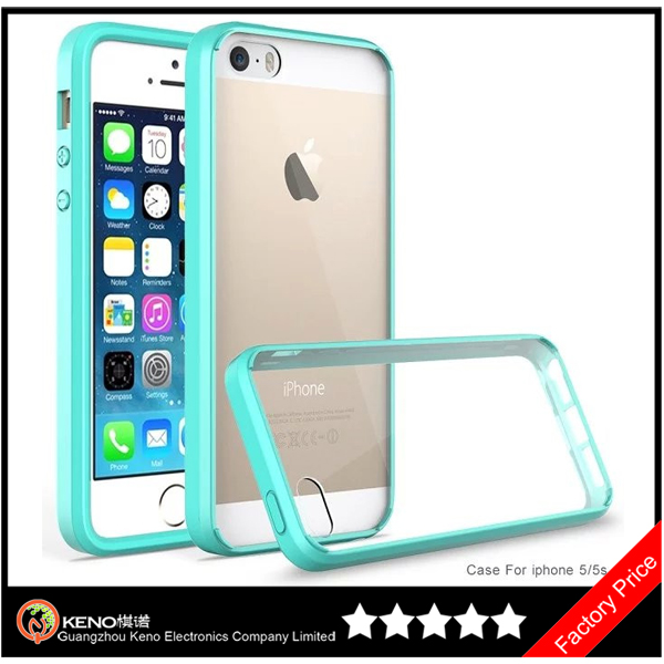 Keno for iPhone 5 Crystal Clear Transparent Plastic Hard Back Case