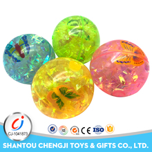 Children outdoor christmas back bouncing balls with flashing light