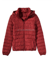 OEM service fashion lady pu leather jacket red outdoor down wholesale windbreaker jacket