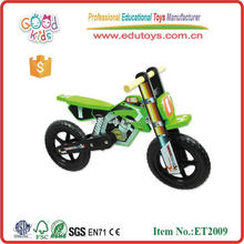 Wholesale top quality green color wooden toy motorcycle for children