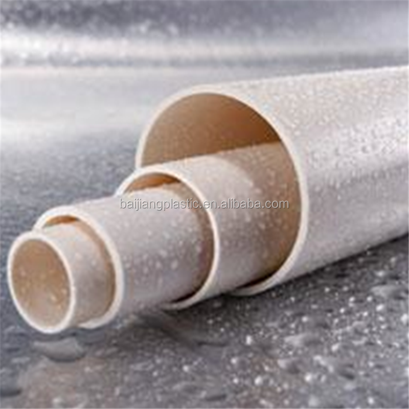 BAIJIANG SDR 17 Thin Wall PVC Pipe Sizes for Water Supply