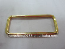 Gold Plated Long Square Shaped Buckle For garment With High Quality