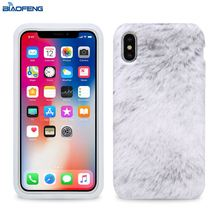 Alibaba 2018 New Custom Warm Plush Mobile Back Cover Mold Cell Silicone Phone Case For Iphone X