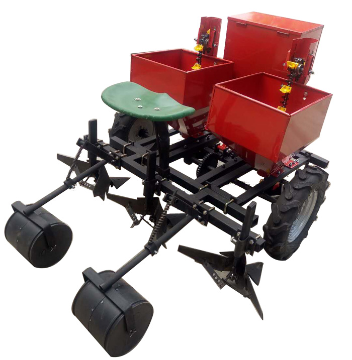 Farm Seeder 3 Point Linkage Ground Wheel Driven Tractor 2 Rows