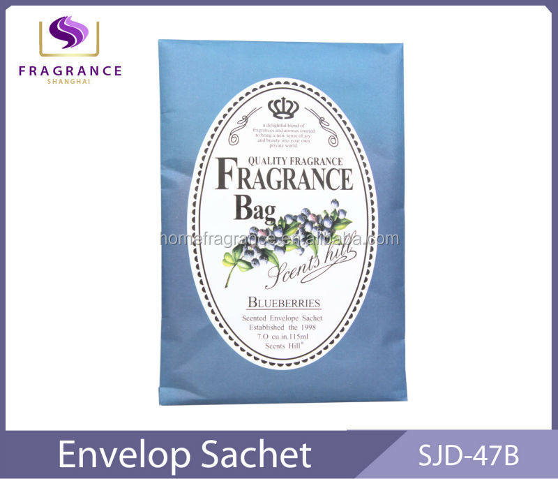 buleberries essential oil paper type air freshener scented sachets