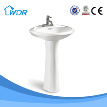 Chaozhou factory cheap ceramic hand wash basin with pedestal