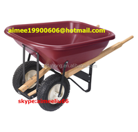 very large capacity plastic tray wheelbarrow 140L manufacturer