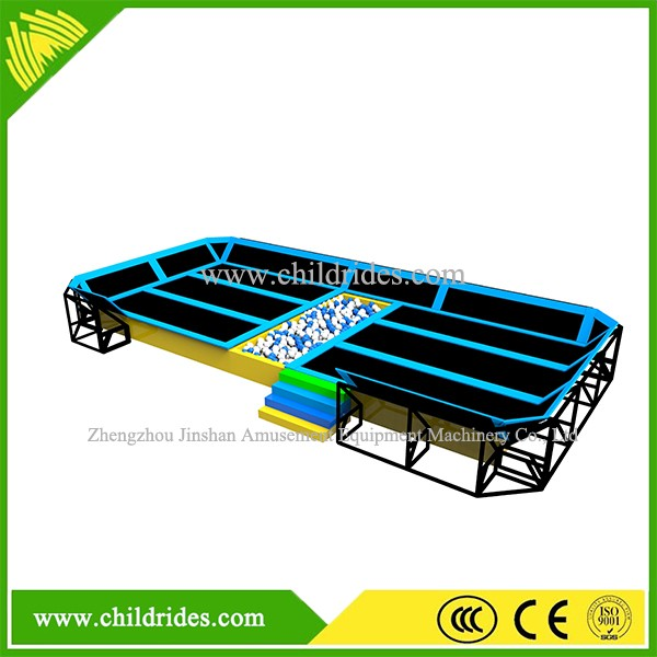 Newest design kids trampoline, jumping bed,bungee trampoline harness park