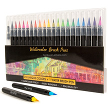 20/24/36/48 colors real brush tip graphite drawing watercolor art marker pen for Painting